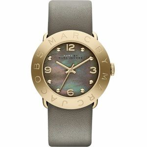 Marc Jacobs watch grey and gold with iridescent